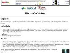 Words on Water Lesson Plan