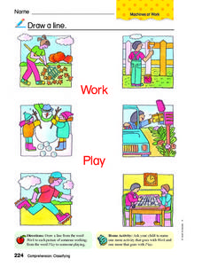 Work and Play Worksheet