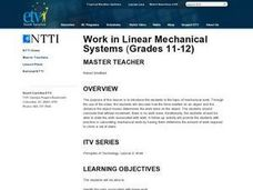 Work in Linear Mechanical Systems Lesson Plan