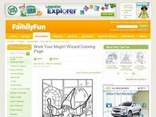 Work Your Magic! Wizard Coloring Page Lesson Plan
