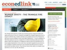 Worker Safety - The Triangle Fire Legacy Lesson Plan