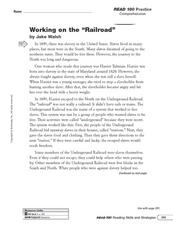 Working on the Railroad: Sequence of Events Worksheet