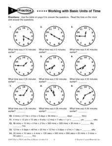 Teaching elapsed time 3rd grade worksheets