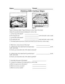 Working with Contour Maps Worksheet
