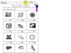 Working With L Blends Worksheet