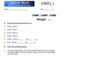 Working with Weight: Math Practice Worksheet