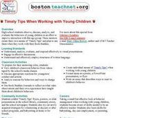 Working With Young Children Lesson Plan