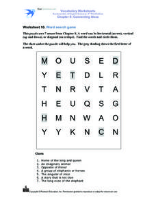 Worksheet 10 Word Search Game Worksheet