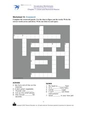 Worksheet 14 Crossword Worksheet