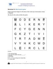 Worksheet 14. Word Search Game Worksheet
