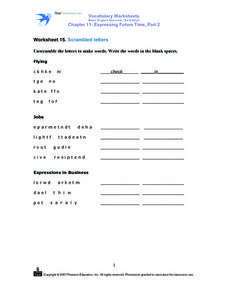 Worksheet 15 Scrambled Letters Worksheet