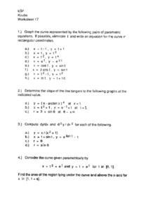 Worksheet 17:  Writing Equations Worksheet