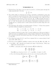 Worksheet 24 Lesson Plan