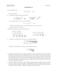 Worksheet 31 - Infinite Sum Lesson Plan