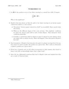 worksheet 32 kepler 39 s law 11th 12th grade lesson plan lesson planet. Black Bedroom Furniture Sets. Home Design Ideas