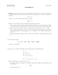 Worksheet 32 - Sequence Lesson Plan