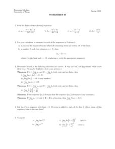 Worksheet 33 - Sequence Lesson Plan