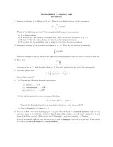 Worksheet 4 - function Lesson Plan