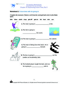 Worksheet 4. Future time with be going to Worksheet