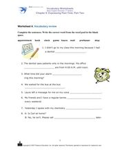 Worksheet 4: Vocabulary Review Worksheet