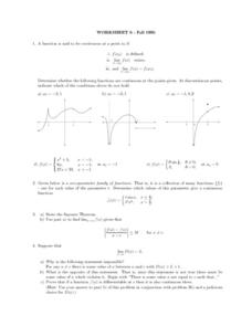 Worksheet 6: Functions Lesson Plan