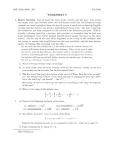 Worksheet 6 Worksheet