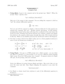 Worksheet 7 Computer Lab Lesson Plan