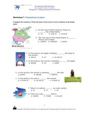 Worksheet 7: Prepositions of Place Worksheet