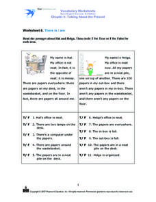 Worksheet 8: There Is/Are Worksheet