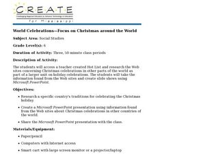 World Celebrations-Focus on Christmas around the World Lesson Plan