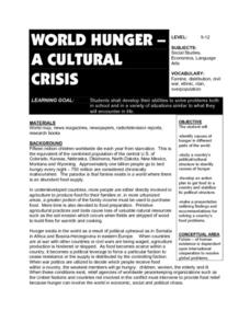 World Hunger - A Cultural Crisis Lesson Plan