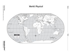 World: Physical Map Worksheet