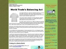 World Trade's Balancing Act Lesson Plan