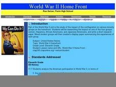 World War II Home Front Lesson Plan