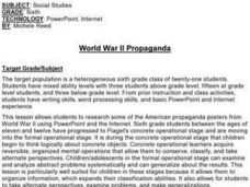 World War II Propaganda Lesson Plan