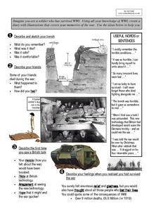 World War One Soldier's Diary Worksheet