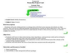 Worm Bin Project Data Exchange Lesson Plan
