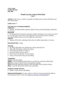 Would You Like A Desert With That? Lesson Plan