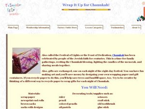 Wrap It Up for Chanukah! Lesson Plan