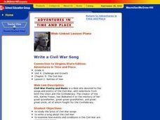 Write a Civil War Song Lesson Plan