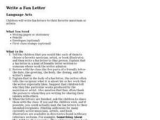 Write a Fan Letter Lesson Plan