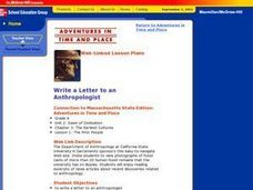 Write A Letter To An Anthropologist Lesson Plan