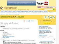 Write a Letter to the President Lesson Plan