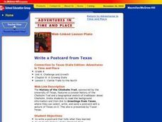 Write a Postcard from Texas Lesson Plan