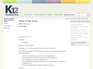 Write a Rap Song Lesson Plan