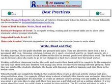 Write, Read and Play Lesson Plan