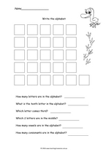 Write The Alphabet Worksheet