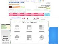 Write the Fractions 2 Worksheet