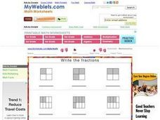 Write the Fractions Worksheet