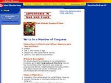 Write to a Member of Congress Lesson Plan